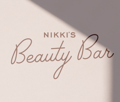 Nikki's Beauty Bar Logo Mockup