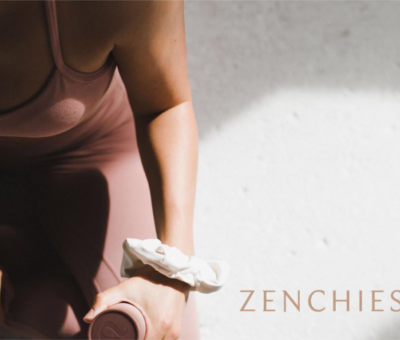Woman in workout clothes wearing Zenchies around her wrist